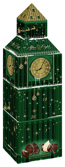 3D After Eight Adventskalender in Form des Big Ben