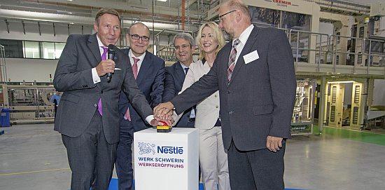 Eröffnung Nescafé-Werk Schwerin